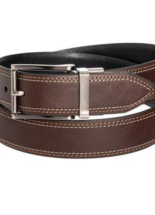 Ремень  кожаный мужской arrow double-stitched reversible belt