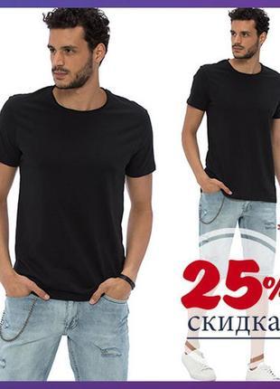 Мужская футболка черная lc waikiki базовая черня
