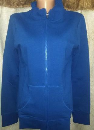 Синяя кофта спорт, худи от blue motion, германия, размер s 36-...