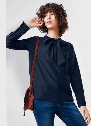 Блуза, бантик, синяя, германия, tcm, tchibo