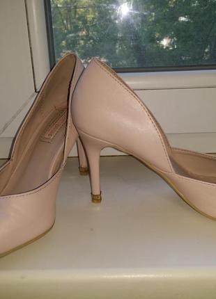 Нюдовые пудровые туфли лодочки на шпильке dorothy perkins нату...