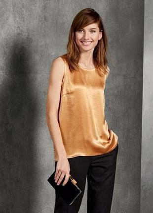 Модная и стильная блузка топ от esmara, германия, золото