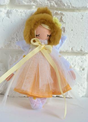 Кукла ангел ручная работа, кукла текстильная мини 15 см