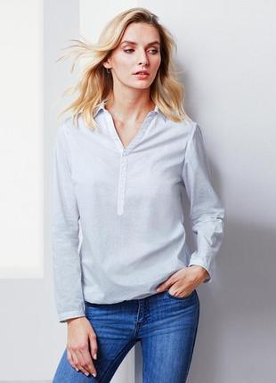 Стильная хлопковая блузка, рубашка от tcm tchibo, германия, р-...