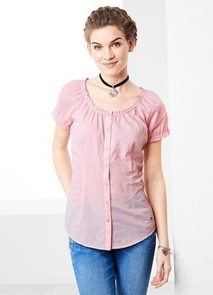 Блузка, рубашка из био хлопка в клетку от tcm tchibo, германия...