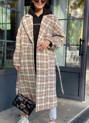 Пальто тёплое на подкладке