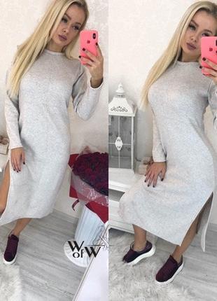 Женское стильное платье с капюшоном