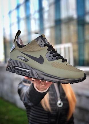Шикарные мужские кроссовки/ ботинки nike air max ultra 90 khak...