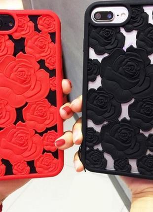 Чехол айфон 6 6s 6plus 6s+ 7 8 7+ 8plus x xs розы супер красивый