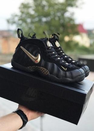 Мужские кроссовки черные с золотом