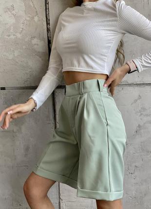 Тренд сезона женские шорты бермуды,высокие прямые шорты,шорты ...