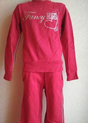 Спортивные костюм mixtillo красный для девочки 7-8 лет