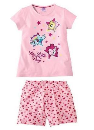 Модная комплект футболка и шорты my littie pony
