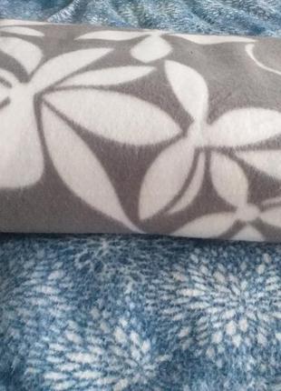 Плед флисовый серый 170х200