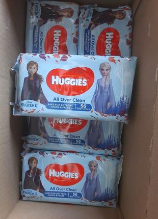 Влажные салфетки HUGGIES 56шт