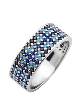 Кольцо серебряное орнамент лк0116