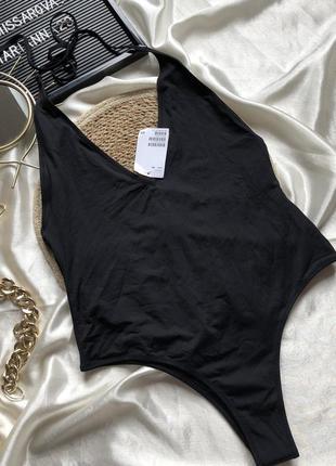 Чёрный цельный купальник h&m  размер: 40( м)