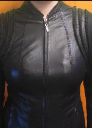 Женская эксклюзивная натуральная кожаная куртка