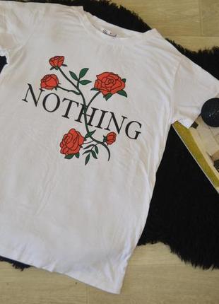 Футболка с розами и надписью