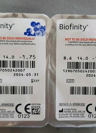 Месячные контактные линзы от Biofinity-1.75