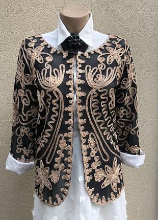Кружево,золото жакет,пиджак,блуза,кардиган,вечерний,нарядный,л...