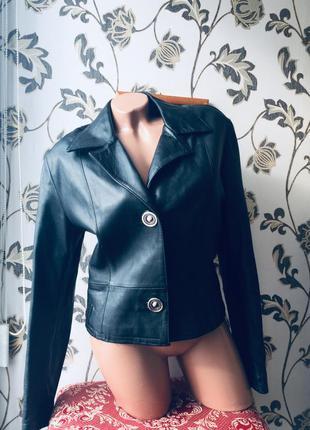 Итальянская кожаная куртка пиджак жакет