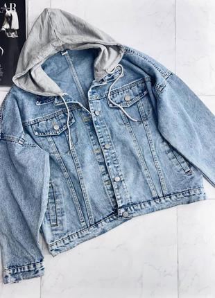 Джинсовка , джинсовая куртка с капюшоном