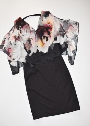 Вечернее черное универсальное платье wallis
