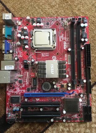 Материнская плата s775 Msi G31tm-p35 +Процессор Intel 2 duo E8500