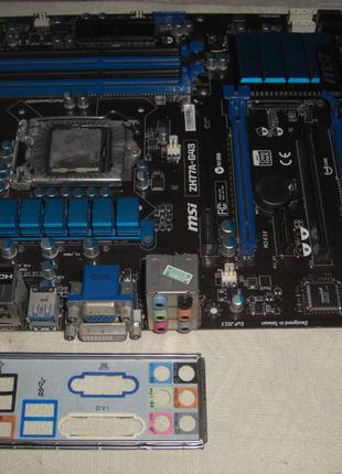 Материнская плата Socket 1155 MSI ZH77A-G43 VGA/DVI/HDMI 4DDR3 AT