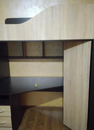 Сборка Кровать-чердак (кровать+шкаф+стол)
