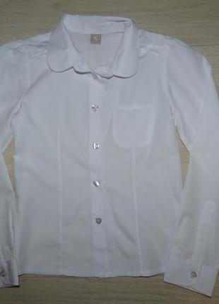 Белая школьная блузка tu 8 лет