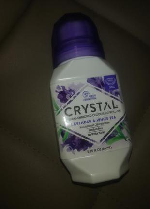 Натуральный шариковый дезодорант crystal лаванда & белый чай