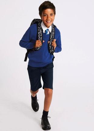 Классические шорты, школьные шорты back to school, 122-128 см