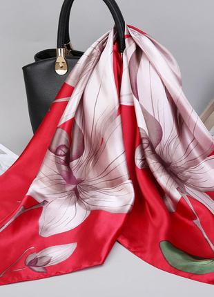 Шелковый палантин , шелковый платок