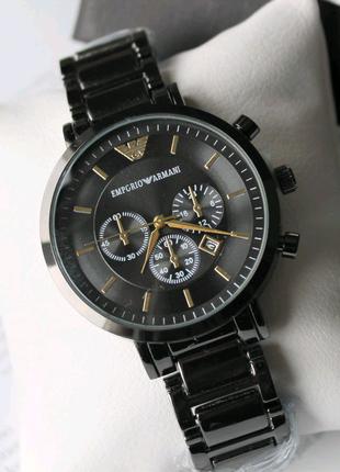 Мужские наручные часы Armani в коробке black
