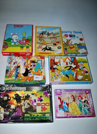 Лот коллекция 6 шт набор disney пазл винтаж  коммикс для детей...