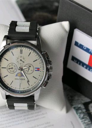 Мужские наручные часы Tommy Hilfiger black&silver