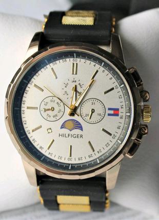 Мужские наручные часы Tommy Hilfiger black&gold