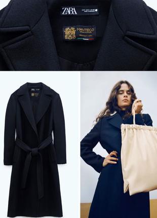 Пальто Zara 75% шерсть