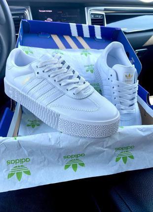 Кеды adidas samba all white