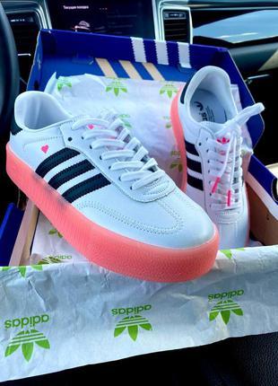 Кеды adidas samba white\rose