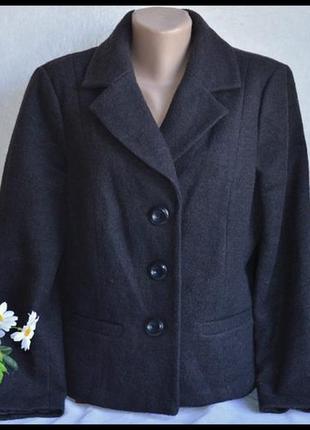 Брендовое коричневое шерстяное демисезонное пальто полупальто ...