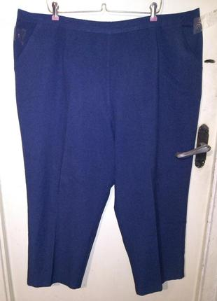 Повседневные,классические брюки c карманами,на резинке сзади,б...