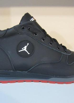 Мужские кожаные зимние ботинки/кроссовки jordan обувь сезона з...