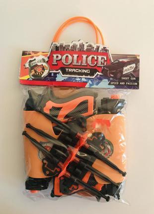 Игрушечный пистолет, набор пистолетов с присосками, полицейски...