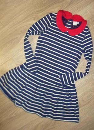 Платье трикотажное с рукавом на 5-6лет