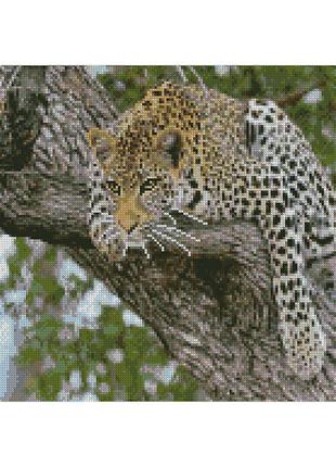 "Алмазная мозаика ""Леопард на дереве"""