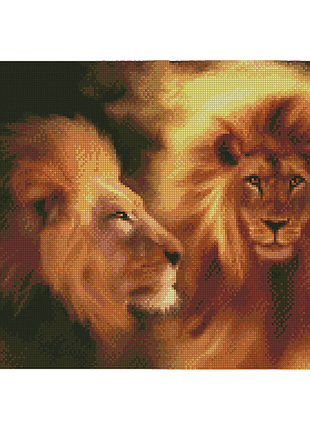 """Алмазная мозаика """"Величественный лев"""""""