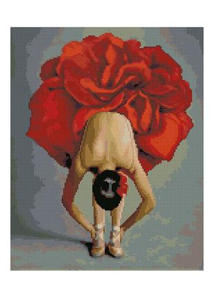 """Алмазная мозаика """"Балерина-цветок"""""""